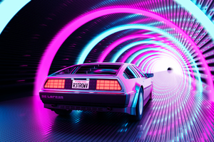 Retro Delorean 4k Wallpaper