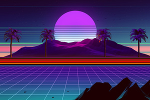Retro Wave 4k Wallpaper