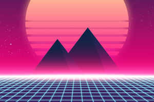 Retrowave 90s Wallpaper