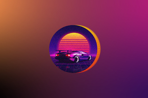 Retrowave Car Art 4k Wallpaper