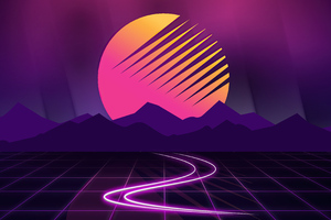 Retrowave Neon 4k Wallpaper