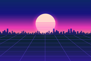 retrowave road 4k u1