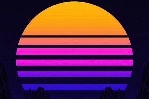 Retrowave Sun 4k