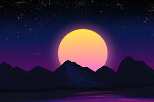 Retrowave Sunset 5k