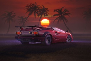 Retrowave Supercar