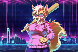 Retrowave Teplye Tona Fox 4k