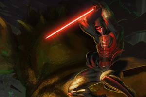 Revan With Lightsaber Star Wars Wallpaper