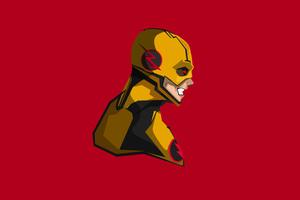 Reverse Flash 4K Minimalism Wallpaper