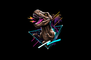Rex 80s Design 4k Wallpaper