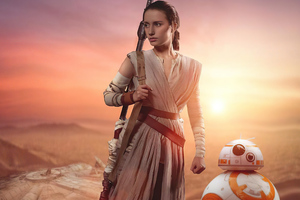Rey And Bb8 Cosplay 4k Wallpaper
