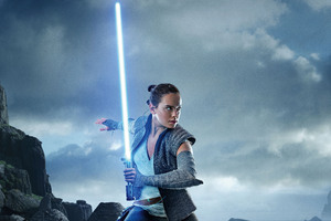 Rey In Star Wars The Last Jedi Wallpaper