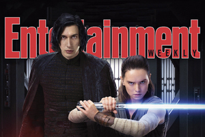 Rey Kylo Ren Star Wars The Last Jedi In Entertainment Weekly Magazine Wallpaper