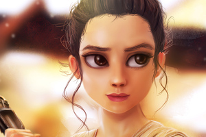 Rey Star Wars Art 4k