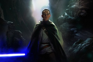 Rey Star Wars Artwork 4k