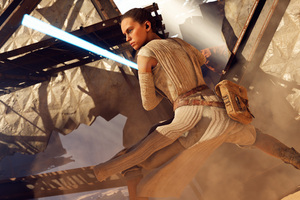 Rey Star Wars Battlefront 2 8k