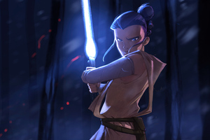 Rey Star Wars Character Fanart Wallpaper