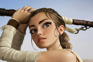 Rey Star Wars Digital Art 4k Wallpaper