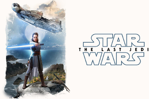 Rey Star Wars The Last Jedi Artwork