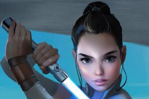 Rey With Sword Wallpaper
