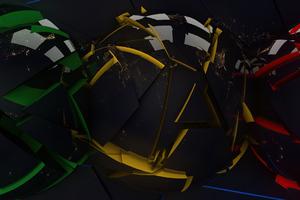 Rgb Helmets Abstract 4k