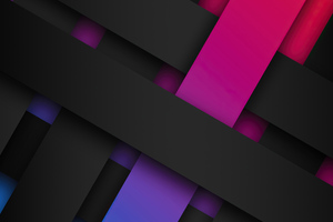 Ribbon Shapes Abstract 4k Wallpaper