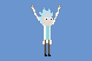 Rick 8 Bit Pixel Wallpaper
