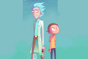 Rick And Morty Fanart 4k Wallpaper