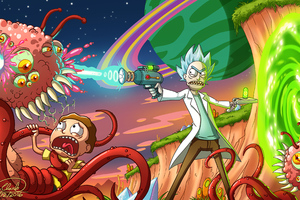 Rick And Morty Smith Adventures 4k Wallpaper