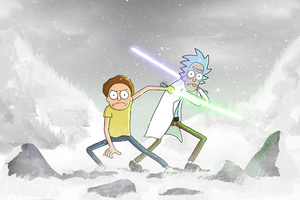 Rick And Morty Star Wars 4k