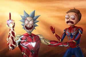 Rick And Morty X Avengers Endgame 4k Wallpaper