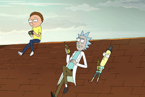 Rick Morty And Mr Poopybutthole 4k Wallpaper