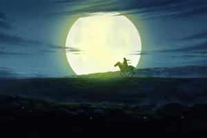 Rider In The Night Wallpaper