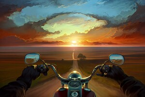 Riding Bike Art