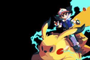 Riding Pokemon 8k Wallpaper