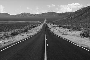Road Grayscale Photography