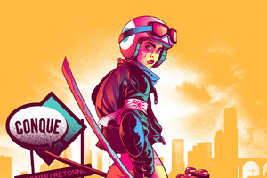 Road Killer Biker Girl Wallpaper