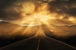Road Landscape Horizon 5k