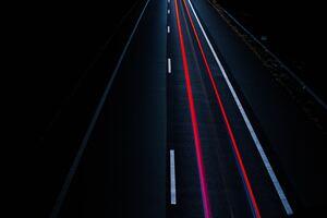 Road Light Trail Long Exposure