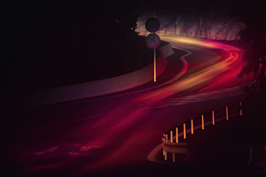 Road Long Exposure Lights 5k