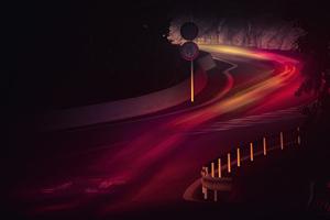 Road Long Exposure Lights 5k Wallpaper