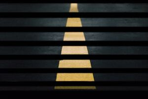 Road Street Crossing Yellow Lines Abstract 5k Wallpaper