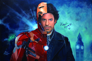 Robert Downery JR As Holmes And Iron Man Portrait