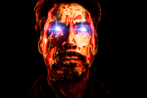 Robert Downery JR As Tony Stark Art Wallpaper