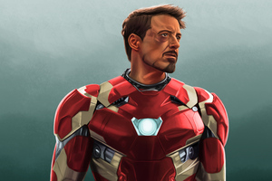 Robert Downery JR Iron Man Art