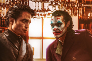 Robert Pattison And Joker Joaquin Phoenix Wallpaper
