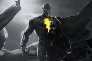 Rock Black Adam 4k 2021 Wallpaper