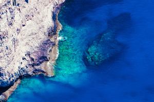 Rock Blue Water Wallpaper