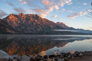 Rock Cliff Jenny Lake United States