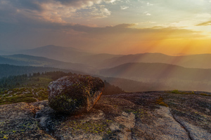 Rock Landscape Mountain Sunset Sky 5k Wallpaper