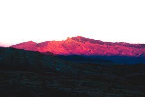 Rock Pink Peak Mountains Landscape 5k